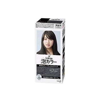 日本 Kao花王 泡沫染发膏 自然黑色 108ml