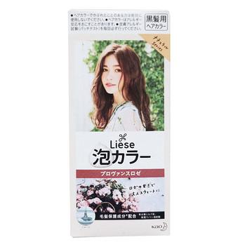 日本Prettia花王泡沫染发膏普罗旺斯玫瑰棕