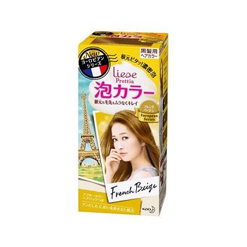 日本KAO花王泡沫染发剂   法国米色 34ml+66ml+8g