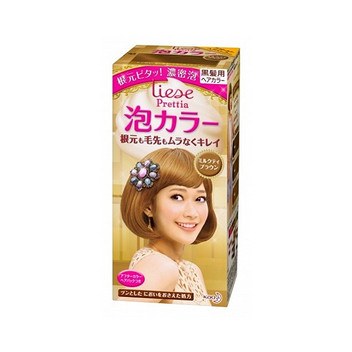 日本KAO花王泡沫染发剂  咖啡奶茶棕 34ml+66ml+8g 2盒装